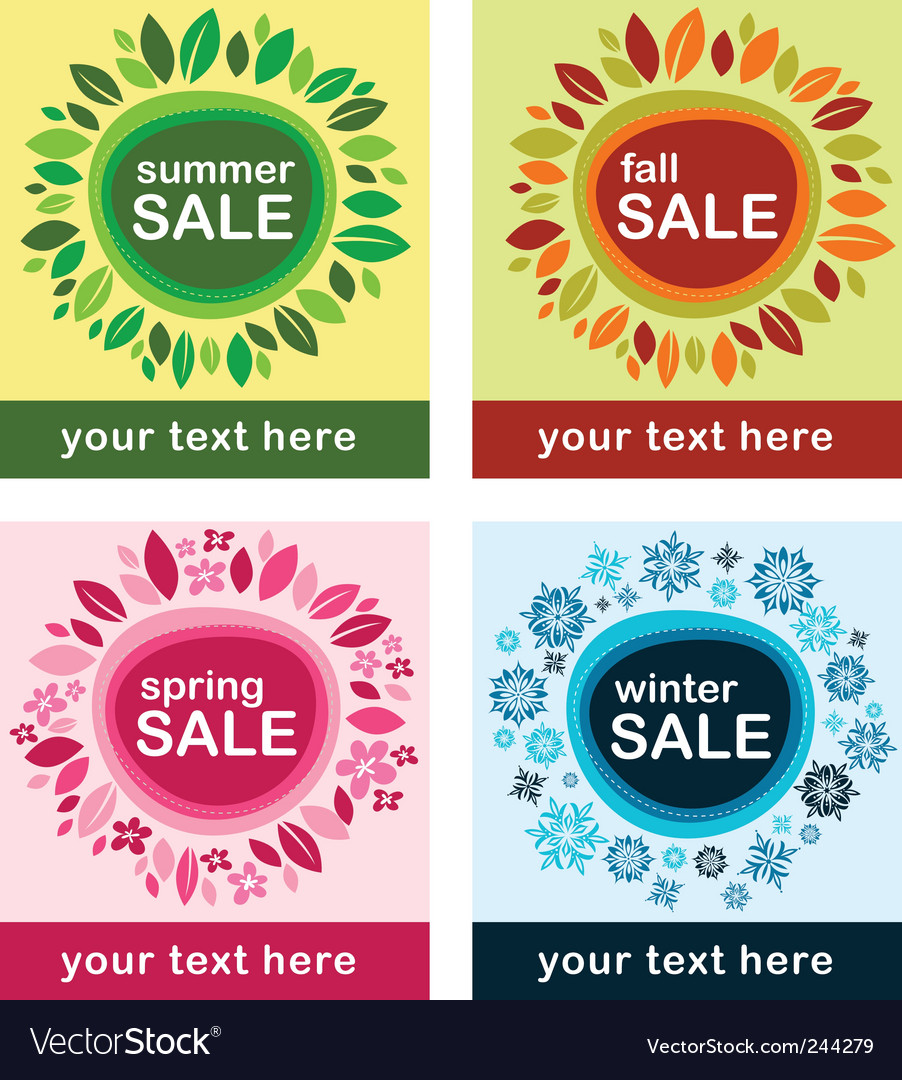 Season sale vector | Price: 1 Credit (USD $1)