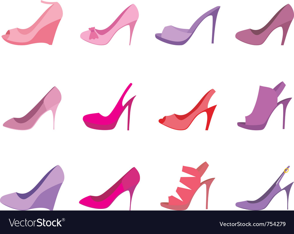 Shoes female on a white background vector | Price: 1 Credit (USD $1)
