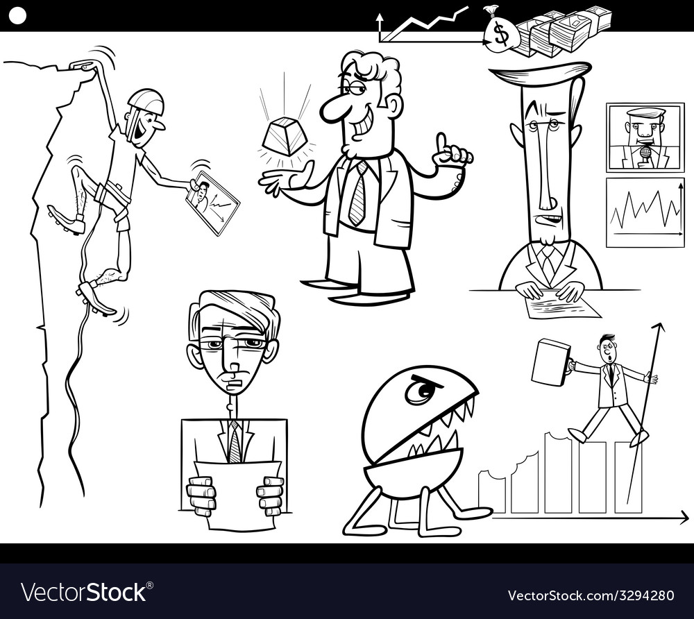 Business cartoon concepts and ideas set vector | Price: 1 Credit (USD $1)