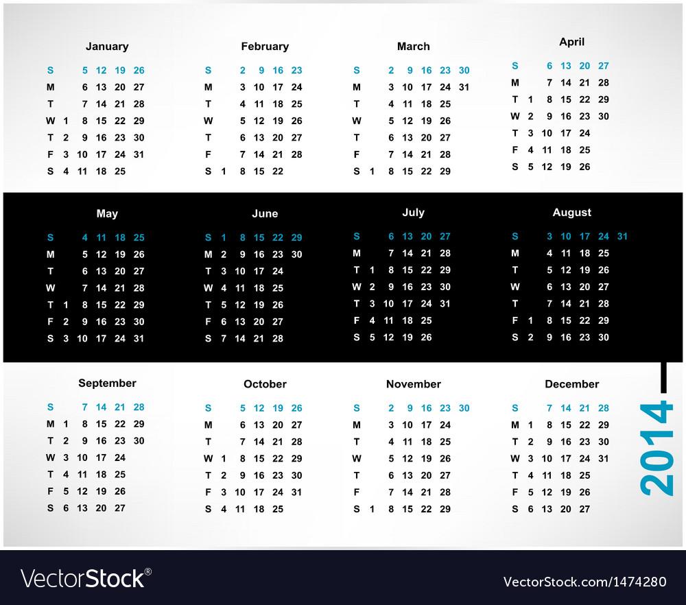 Calendar vector | Price: 1 Credit (USD $1)