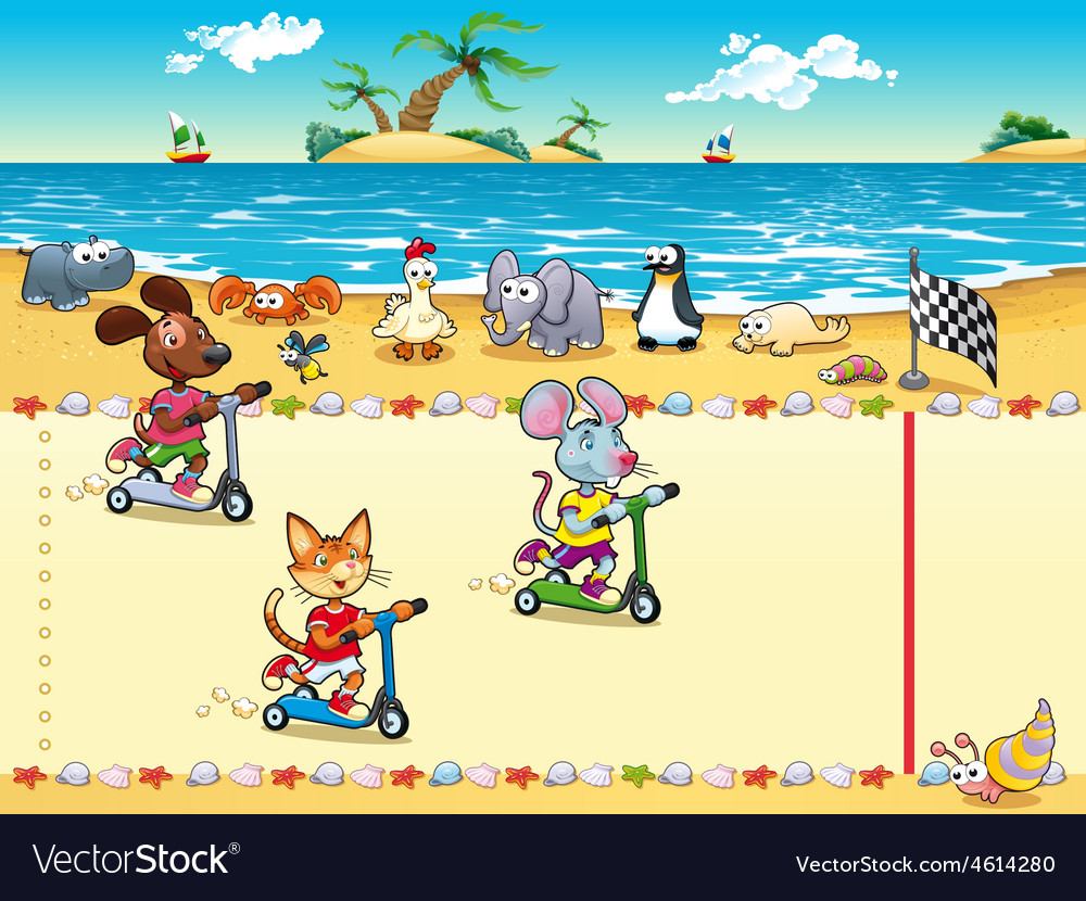Competition in beach vector | Price: 5 Credit (USD $5)