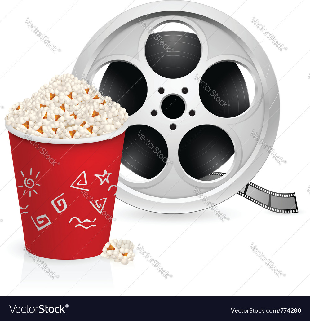 Film reel and popcorn vector | Price: 3 Credit (USD $3)