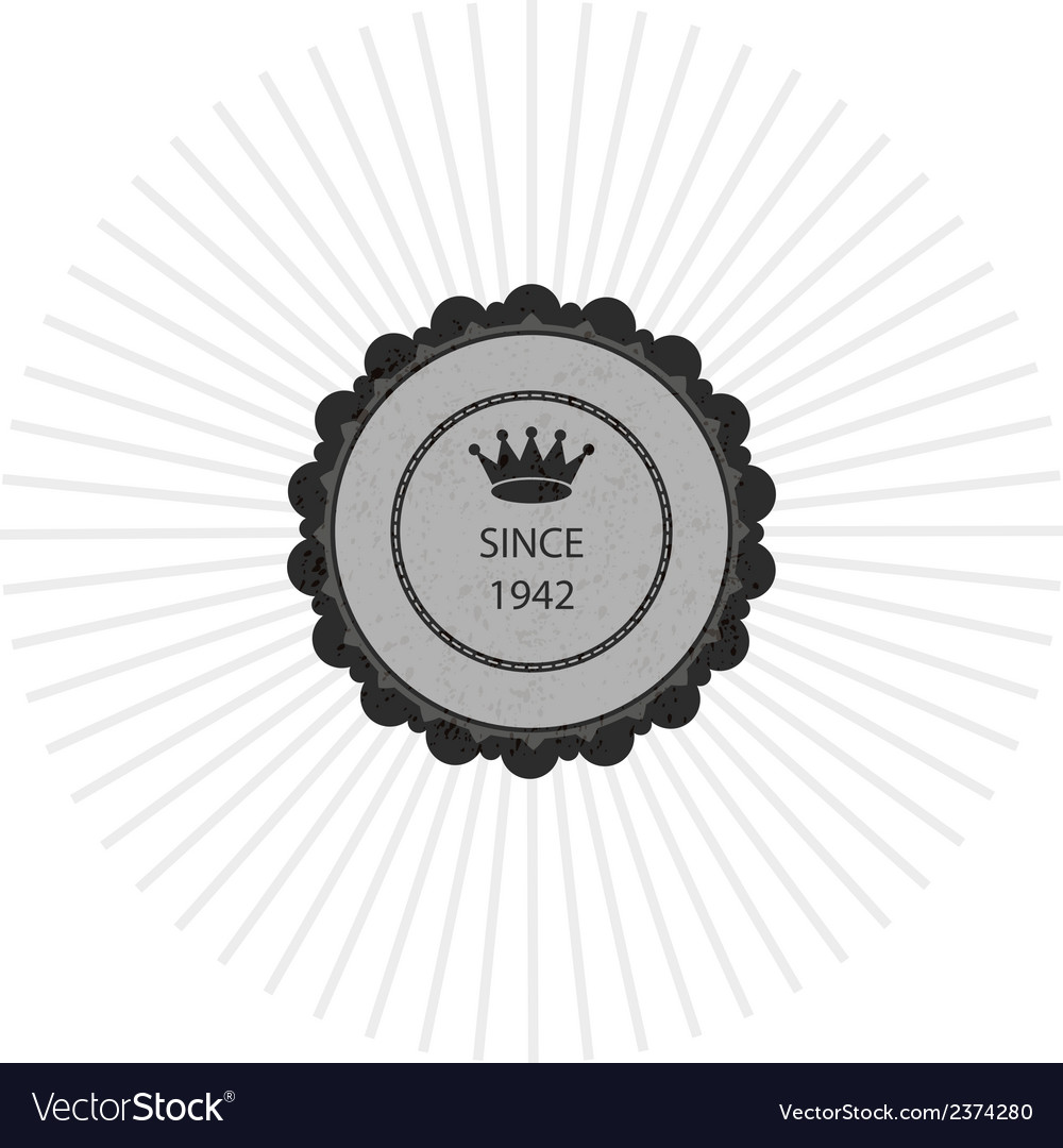 Grey creative sticker vector | Price: 1 Credit (USD $1)