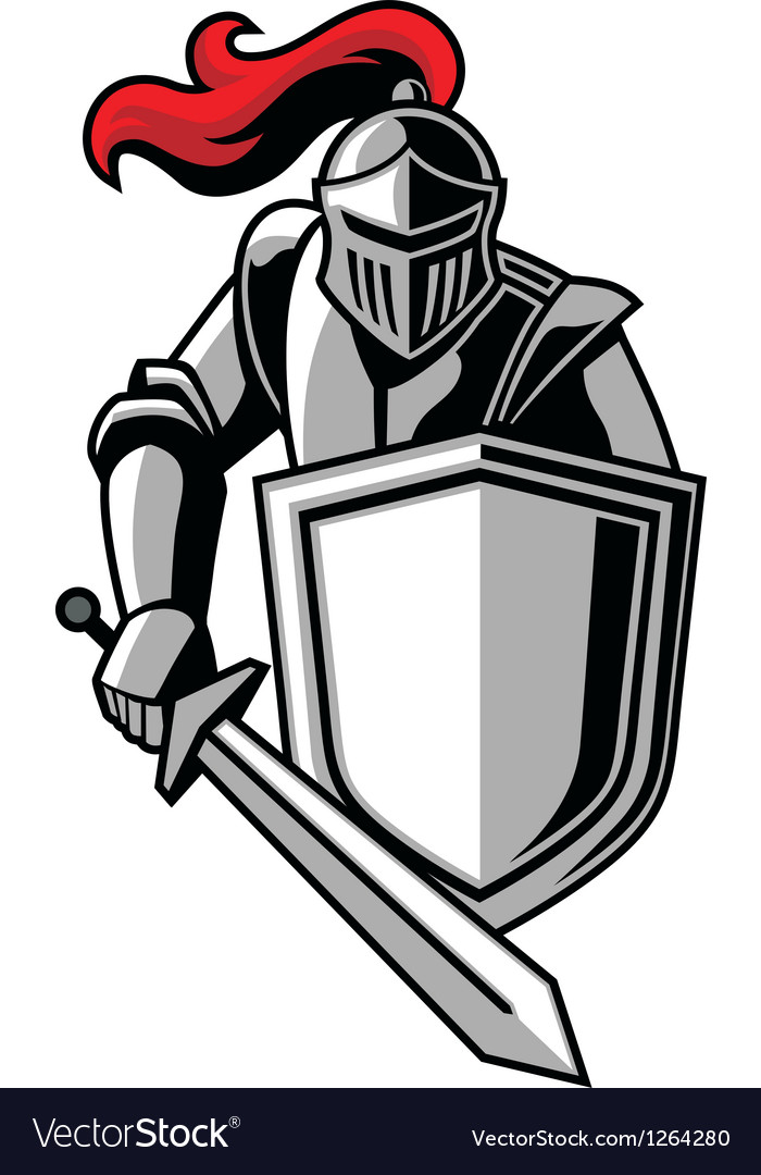 Knight with shield vector | Price: 3 Credit (USD $3)