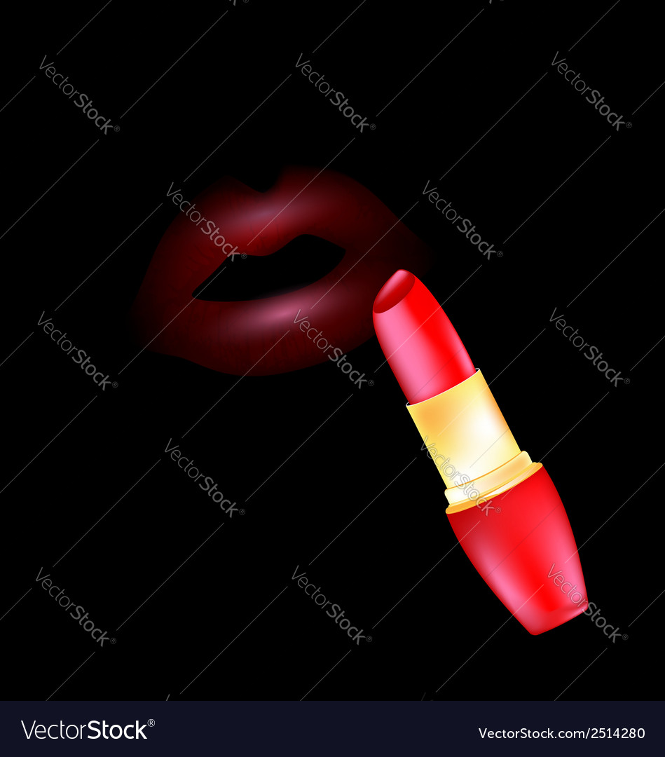 Lips and lipstick vector | Price: 1 Credit (USD $1)