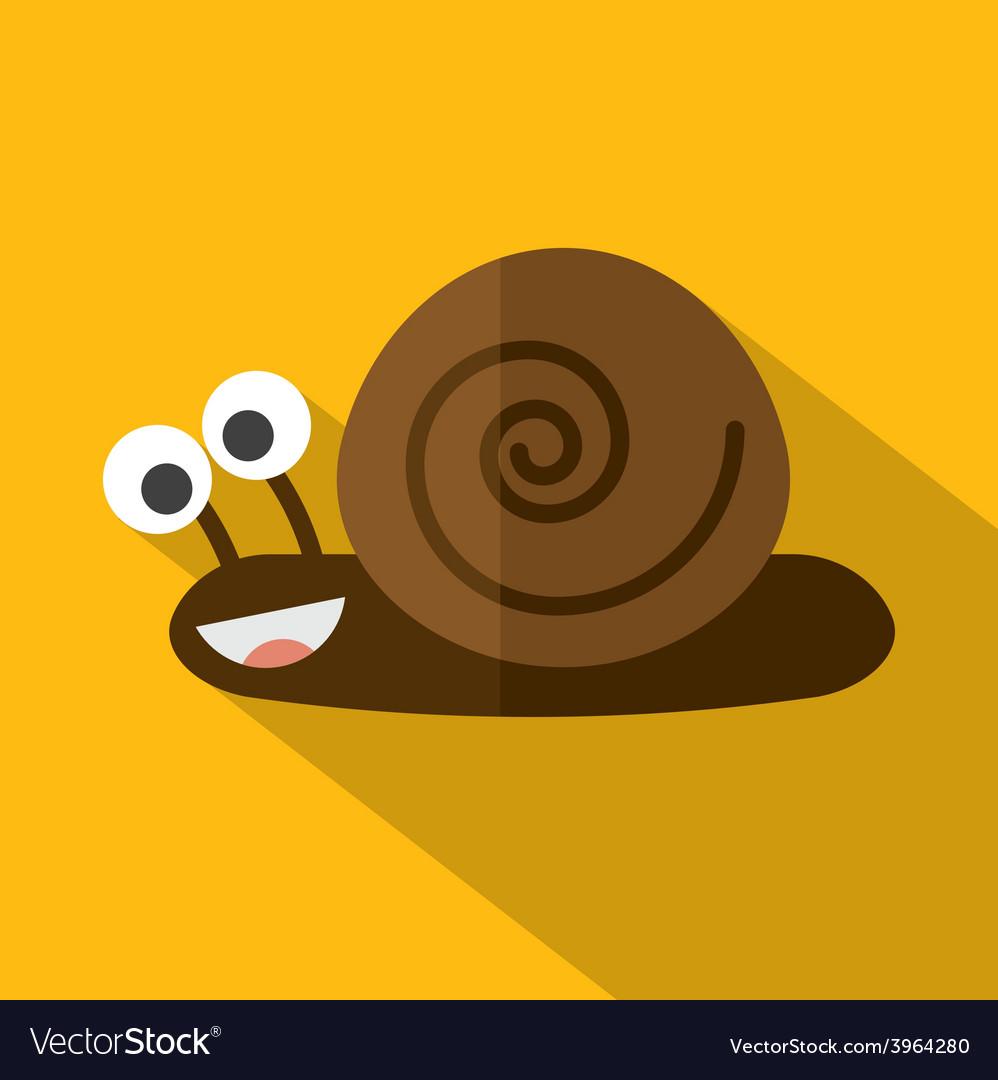 Modern flat design snail icon vector | Price: 1 Credit (USD $1)