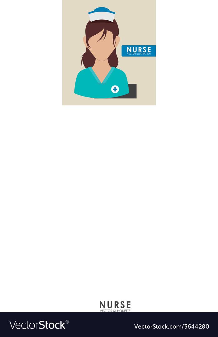 Nurse woman vector | Price: 1 Credit (USD $1)
