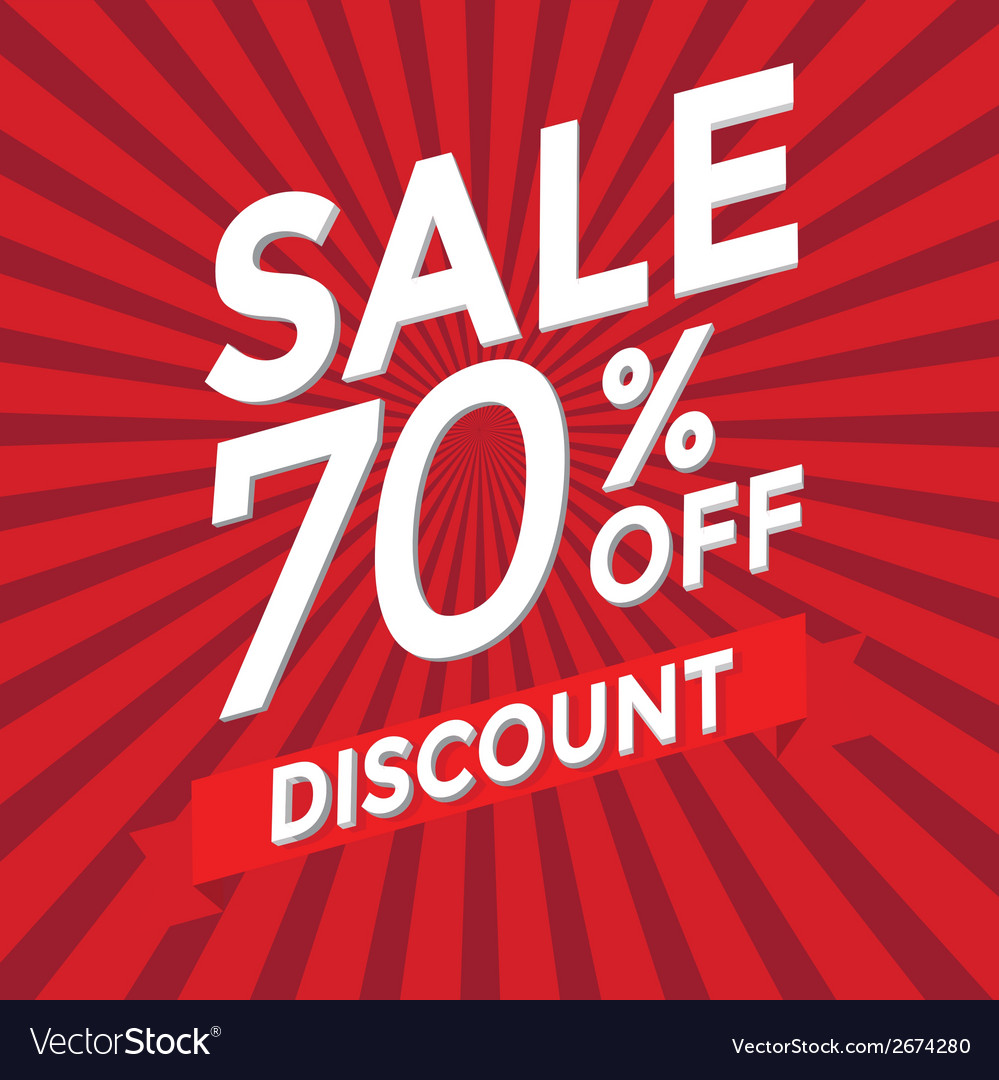 Sale 70 percent off discount vector | Price: 1 Credit (USD $1)