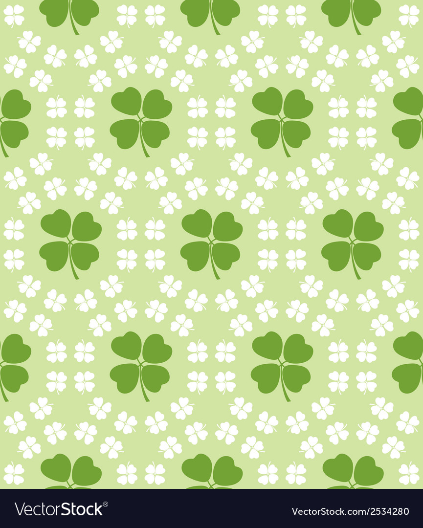 Seamless decorative floral pattern with clover vector | Price: 1 Credit (USD $1)