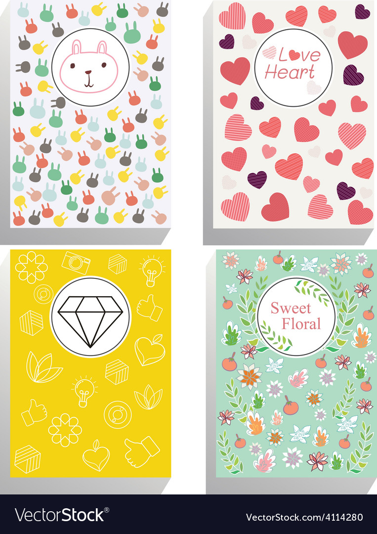 Sweet cover book vector | Price: 1 Credit (USD $1)