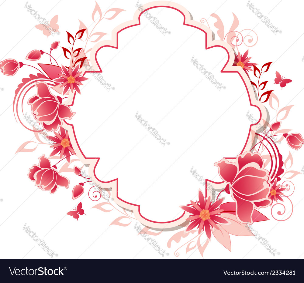 Background with red and pink flowers vector | Price: 1 Credit (USD $1)