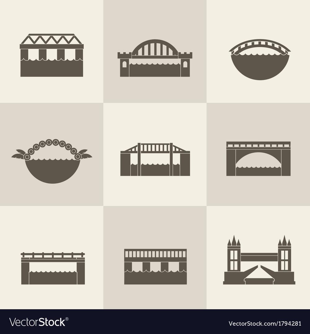 Bridge icon vector | Price: 1 Credit (USD $1)