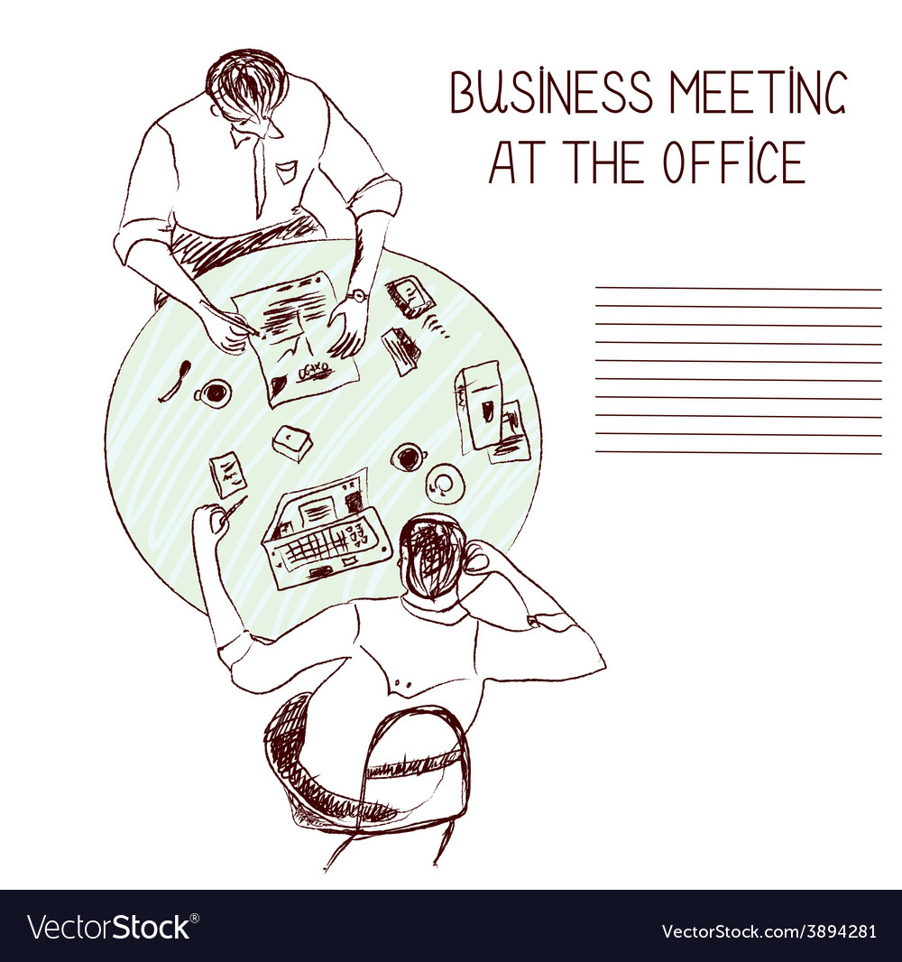 Business meeting at the office vector | Price: 1 Credit (USD $1)