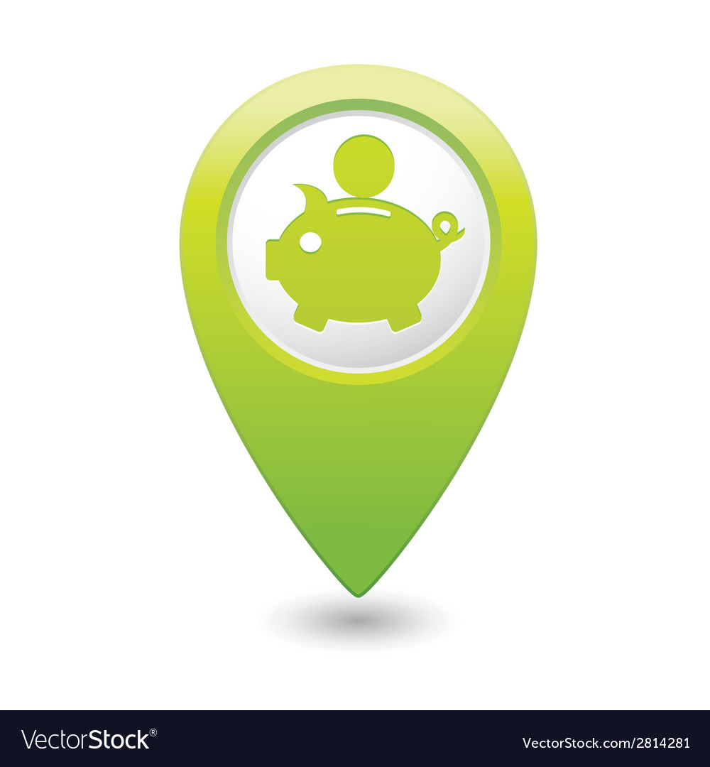 Copypig icon green map pointer vector | Price: 1 Credit (USD $1)