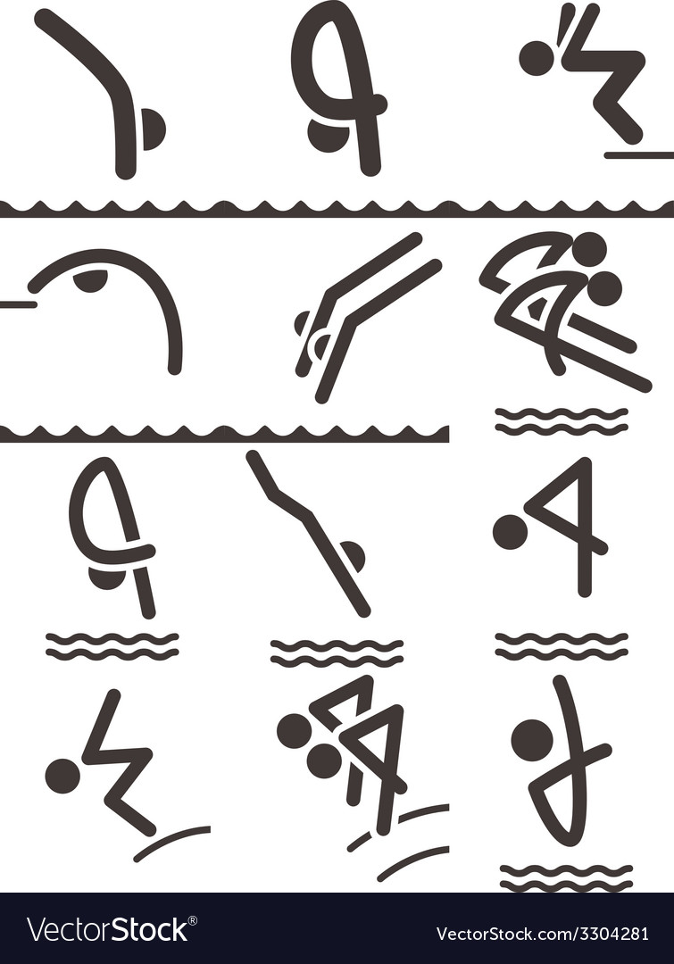 Diving icons vector | Price: 1 Credit (USD $1)