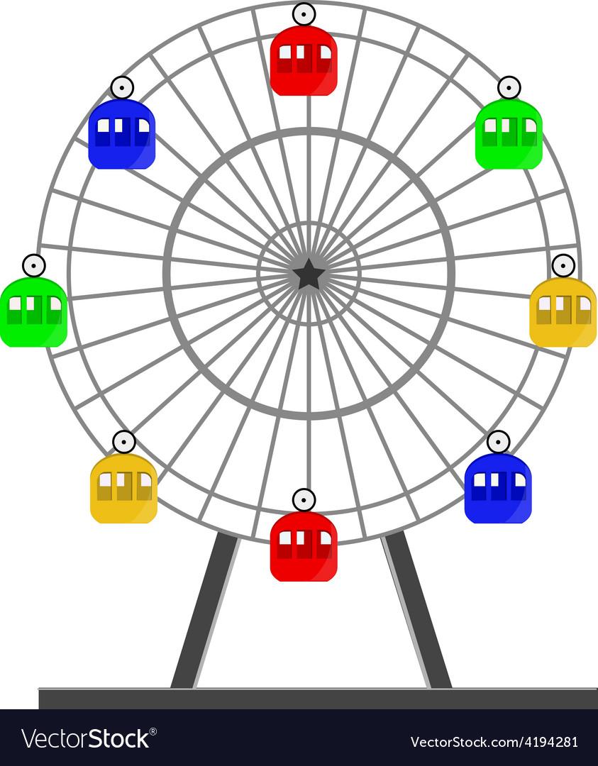 Ferris wheel vector   Price: 1 Credit (USD $1)