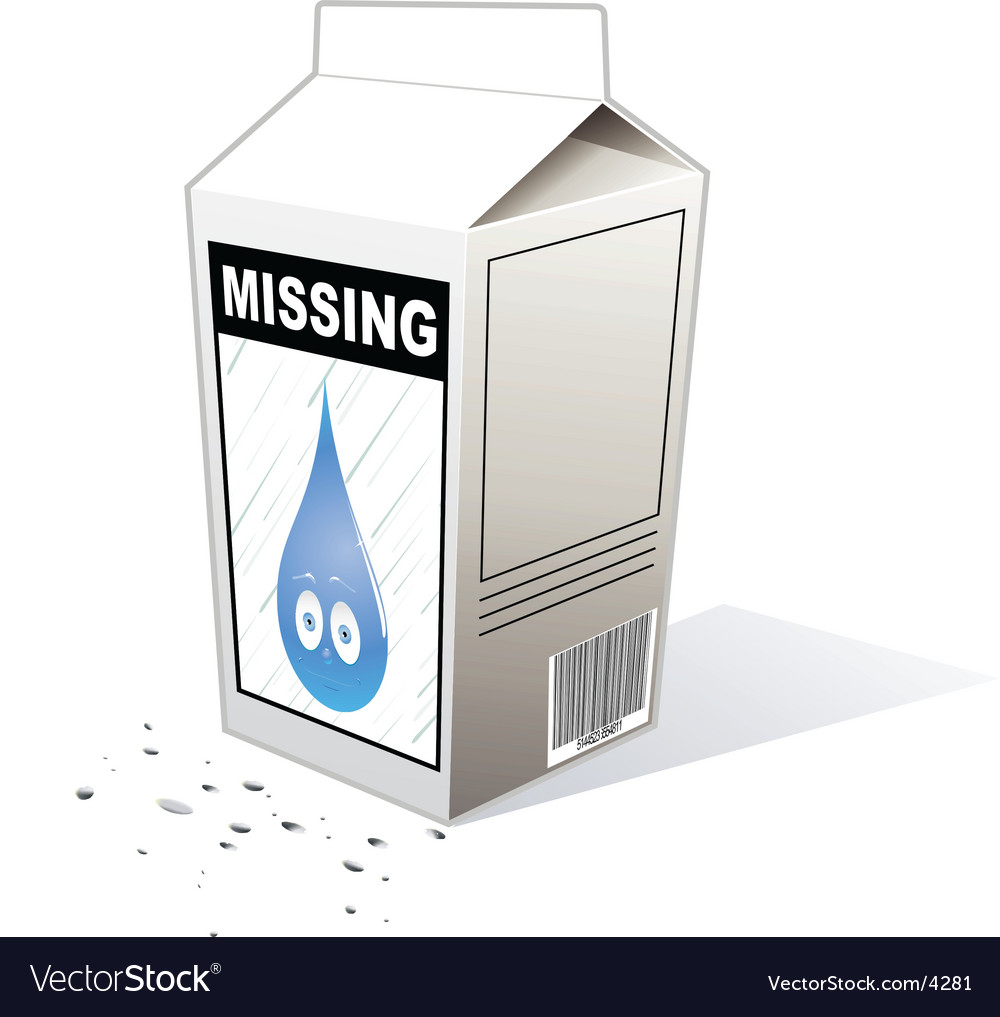 Missing person carton vector | Price: 1 Credit (USD $1)