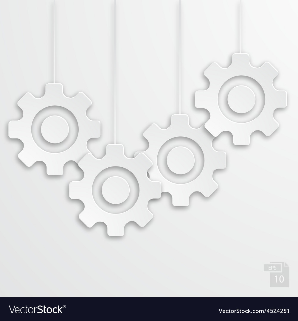 Modern mechanism icons background vector | Price: 1 Credit (USD $1)