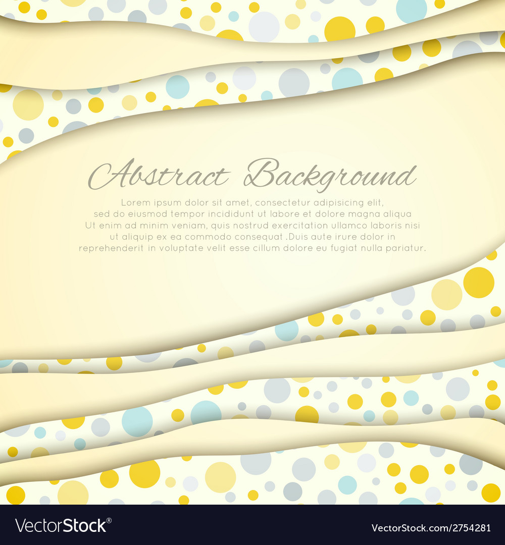 Polka dot seamless pattern with place for text vector | Price: 1 Credit (USD $1)