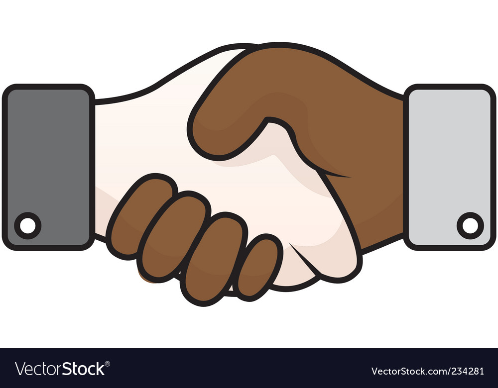 Race relations handshake vector | Price: 1 Credit (USD $1)