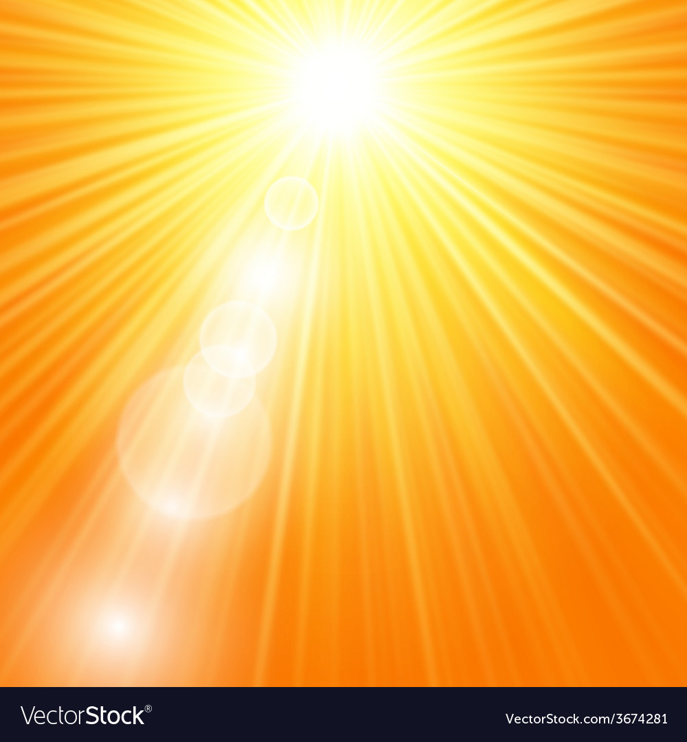 Sun burst with flare vector | Price: 1 Credit (USD $1)