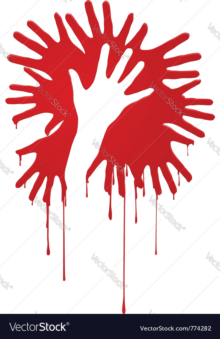 Abstract bloody hands vector | Price: 1 Credit (USD $1)