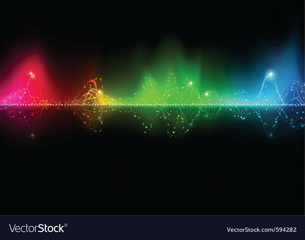 Abstract music wave vector