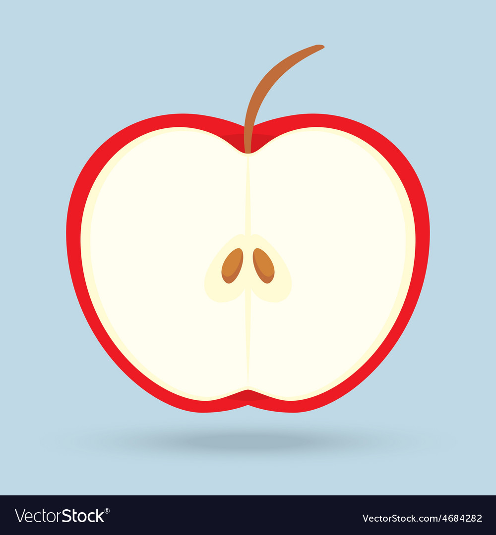 Apple isolated on background vector | Price: 1 Credit (USD $1)