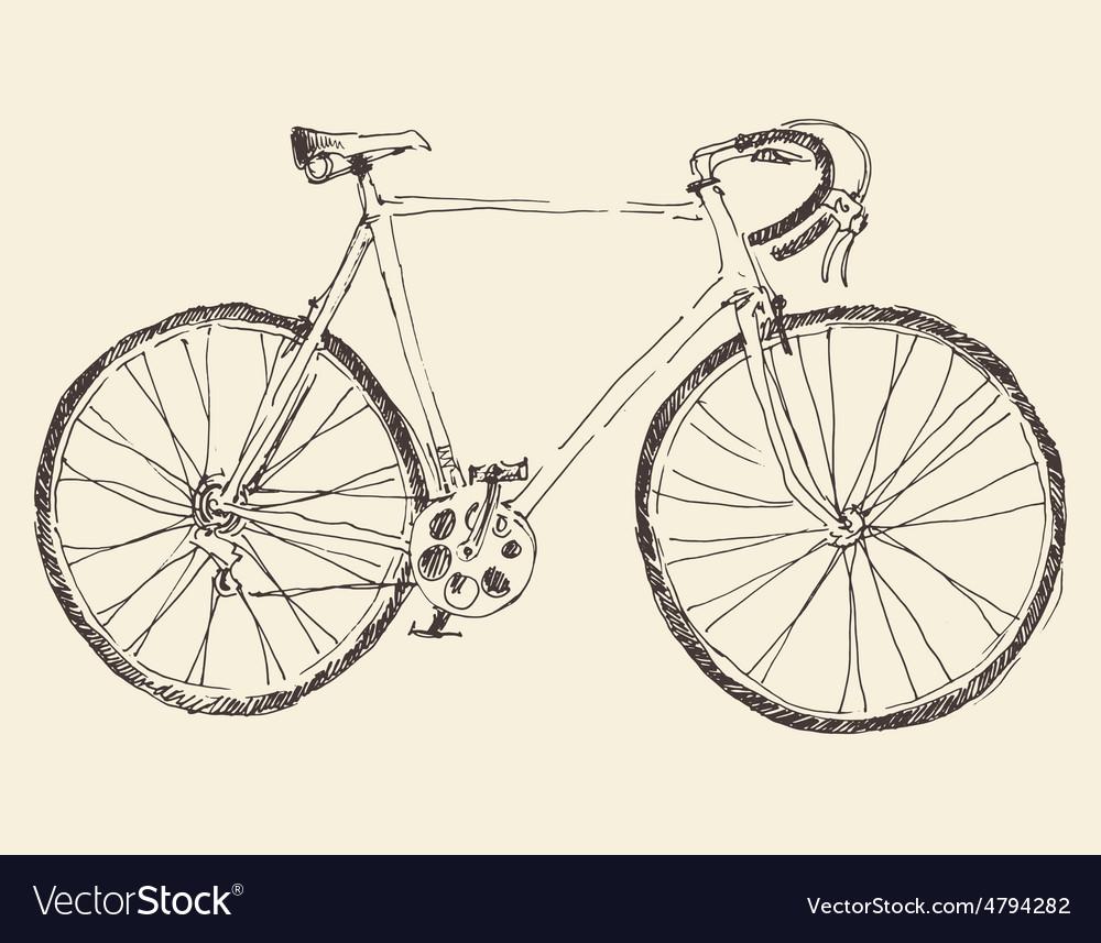 Bicycle racing bike hand drawn sketch vector   Price: 1 Credit (USD $1)
