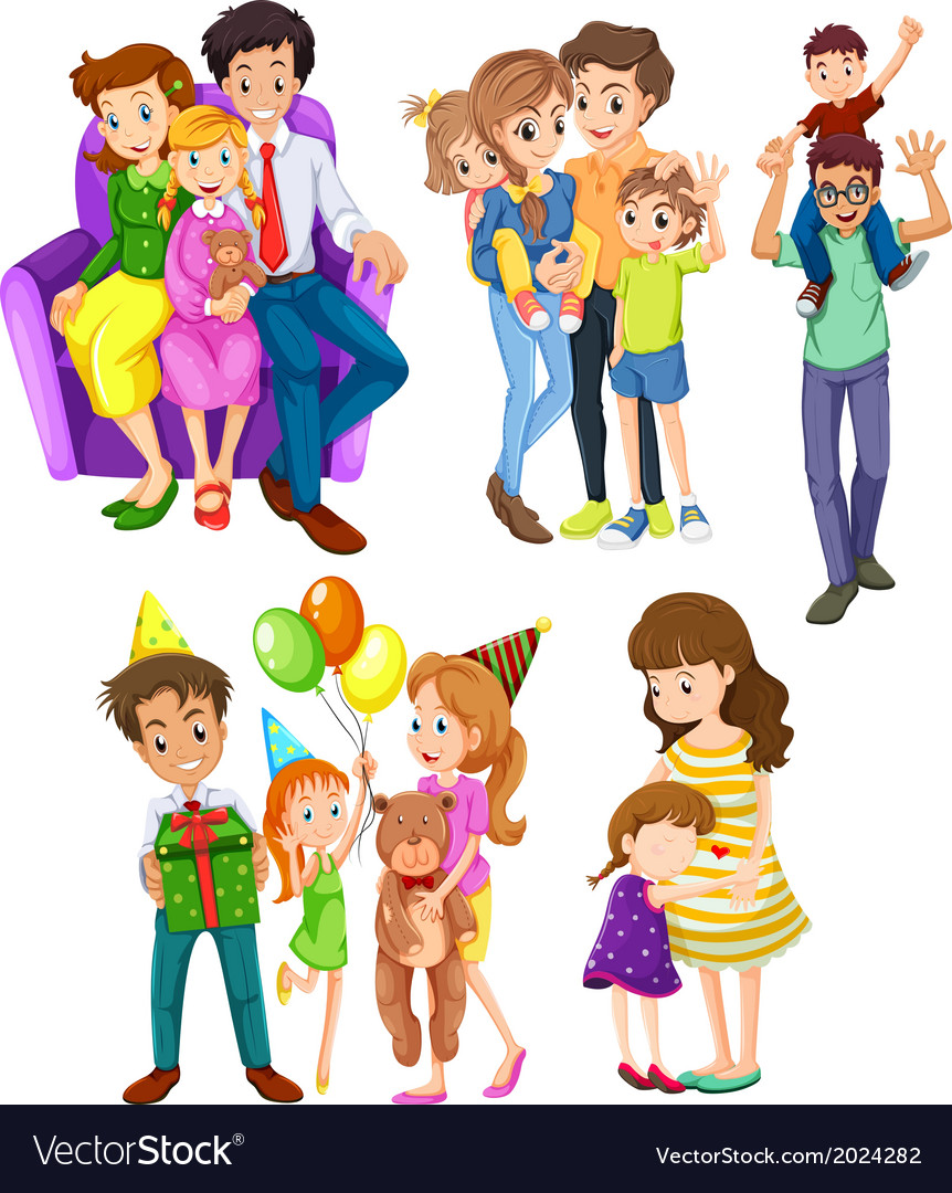 Different families vector | Price: 3 Credit (USD $3)