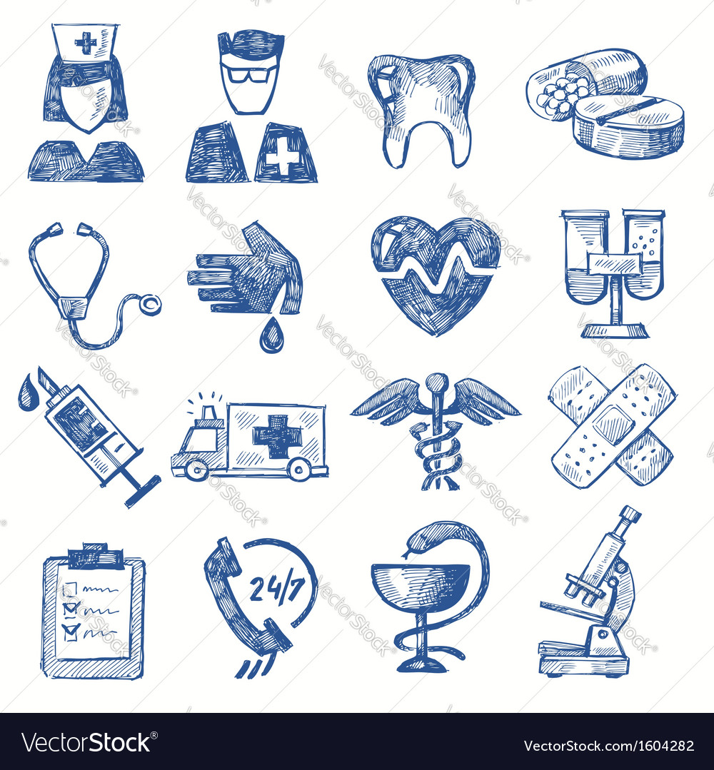 Hand draw medical vector | Price: 1 Credit (USD $1)