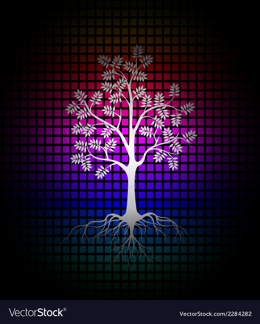 Modern tree silhouette background vector   Price: 1 Credit (USD $1)