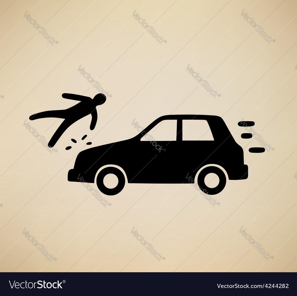 Pedestrian hit vector | Price: 1 Credit (USD $1)
