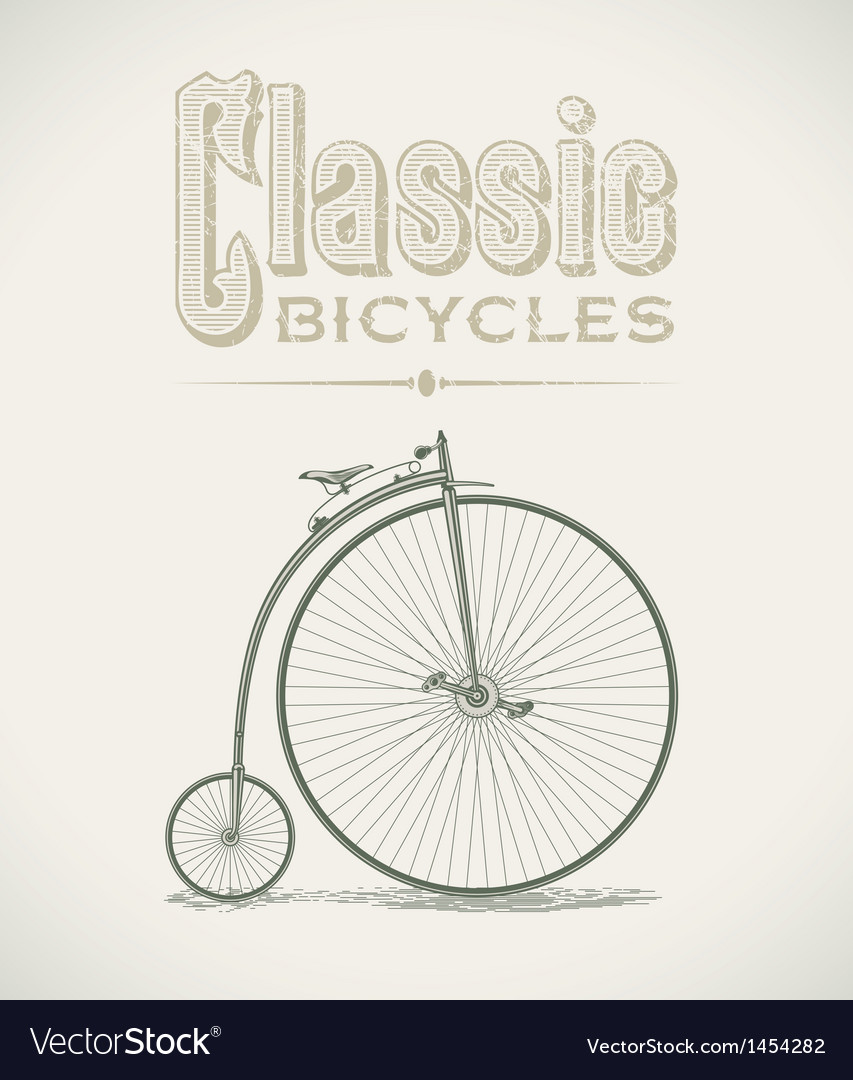 Penny-farthing bicycle vector | Price: 1 Credit (USD $1)