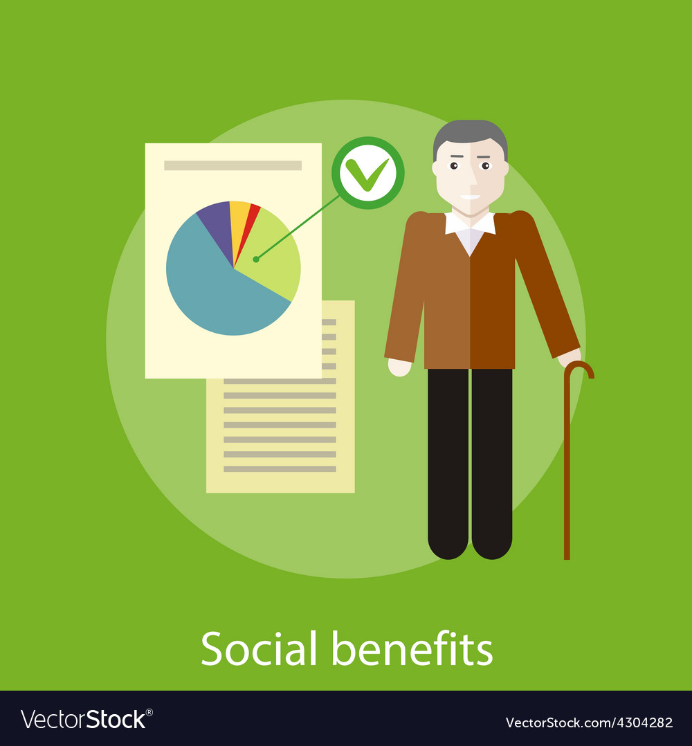 Social benefits concept vector | Price: 1 Credit (USD $1)