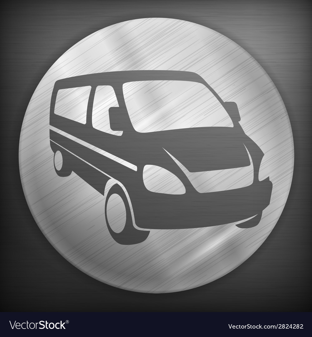 Van round sign vector | Price: 1 Credit (USD $1)