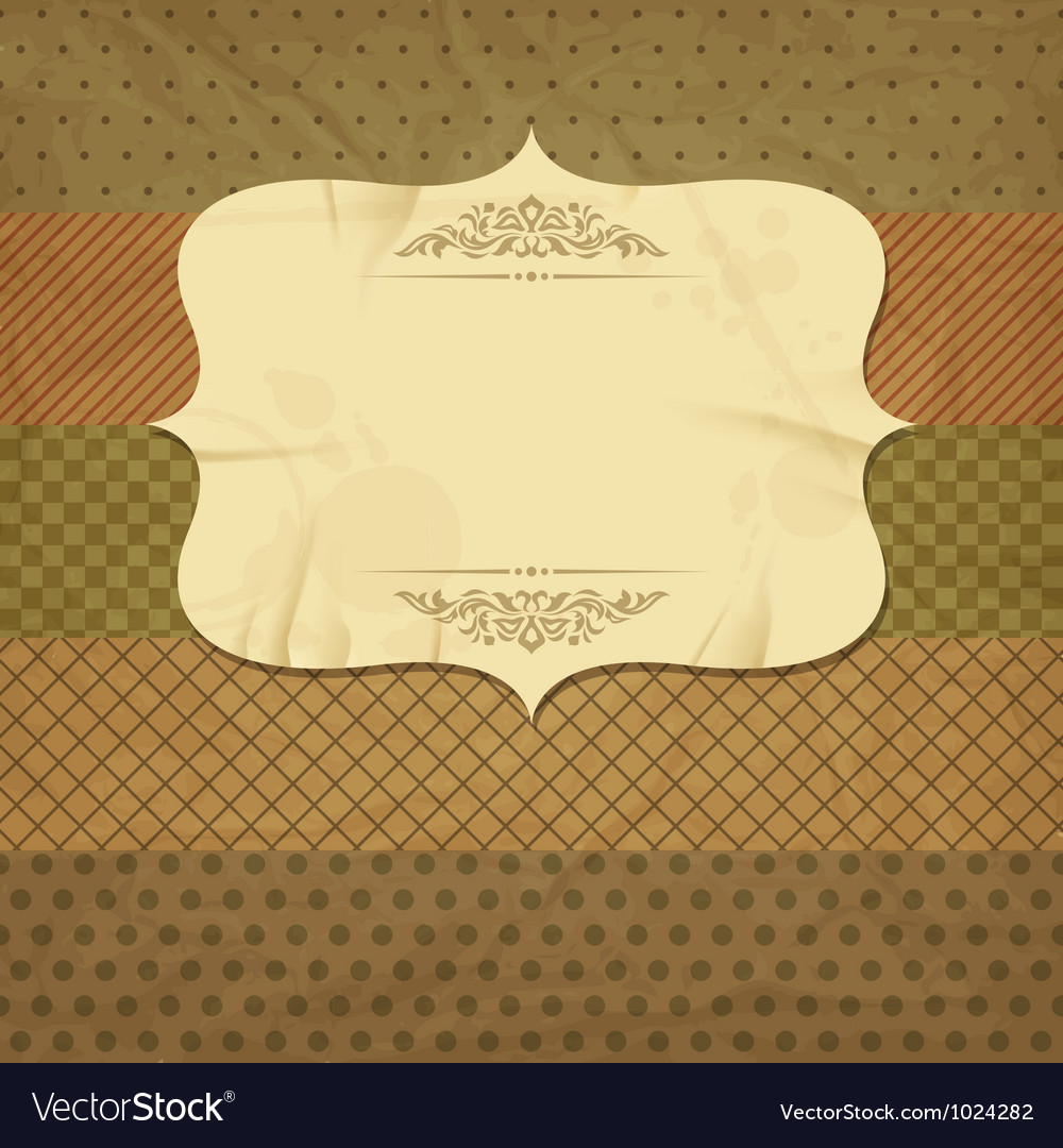 Vintage and retro old paper card with blank space vector | Price: 1 Credit (USD $1)