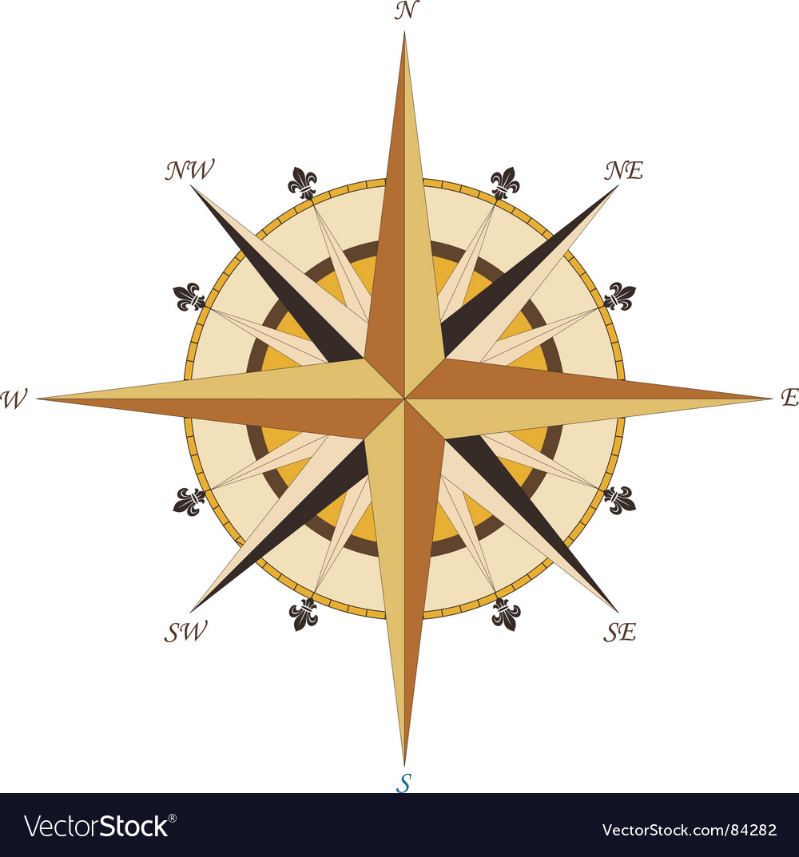 Vintage compass vector | Price: 1 Credit (USD $1)