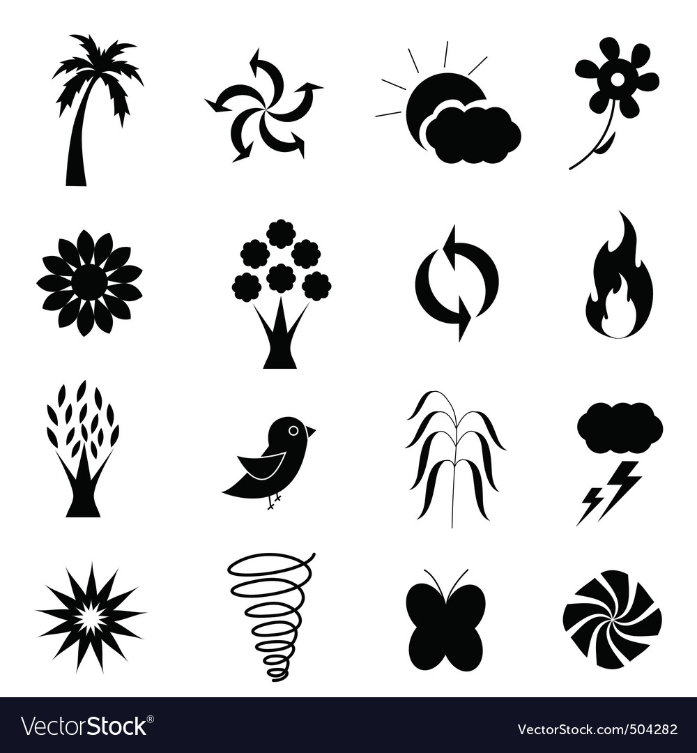 Weather nature icon vector | Price: 1 Credit (USD $1)