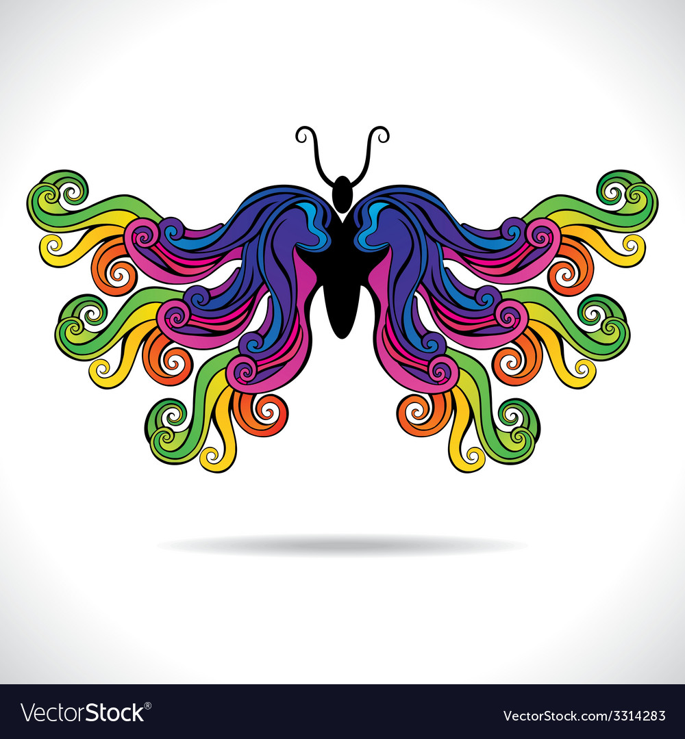 Abstract colorful butterfly vector | Price: 1 Credit (USD $1)