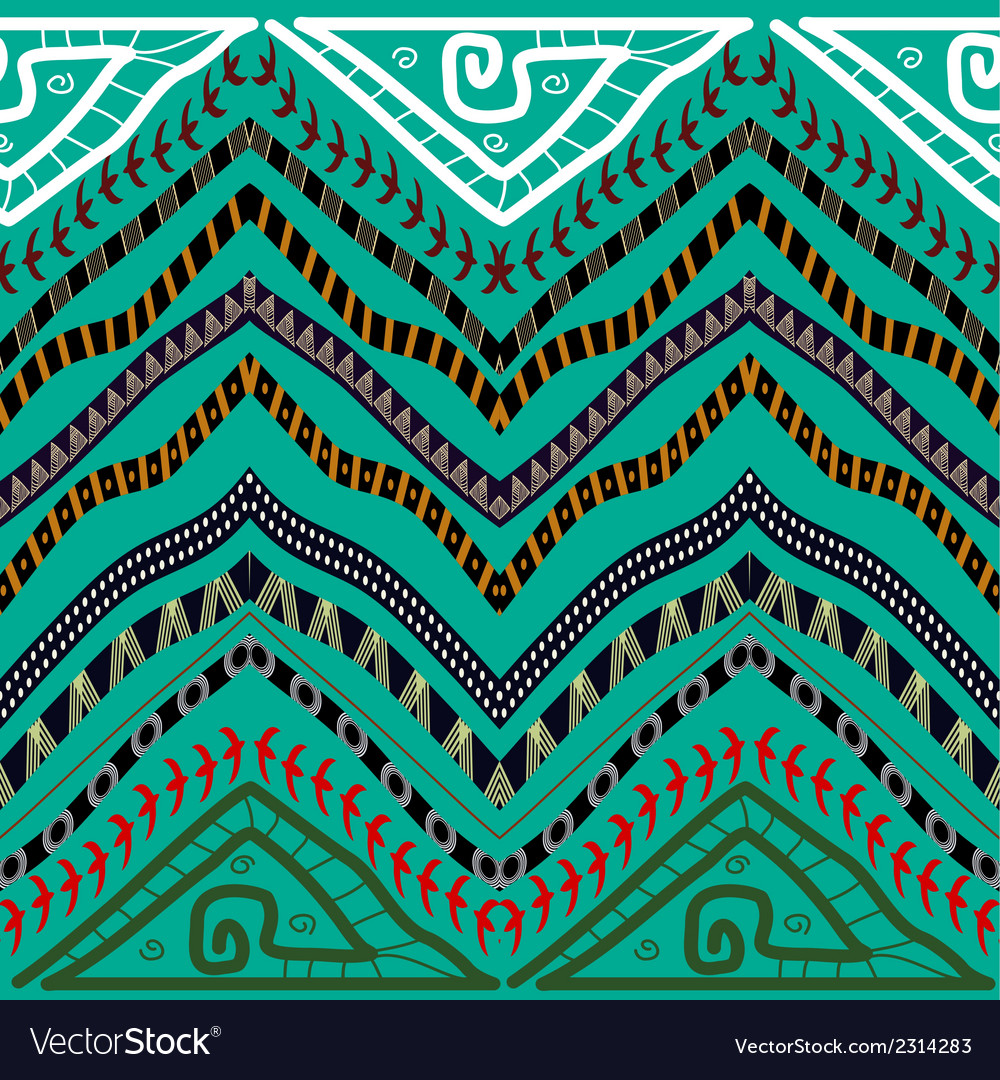 Abstract seamless pattern in ethnic style stock vector | Price: 1 Credit (USD $1)