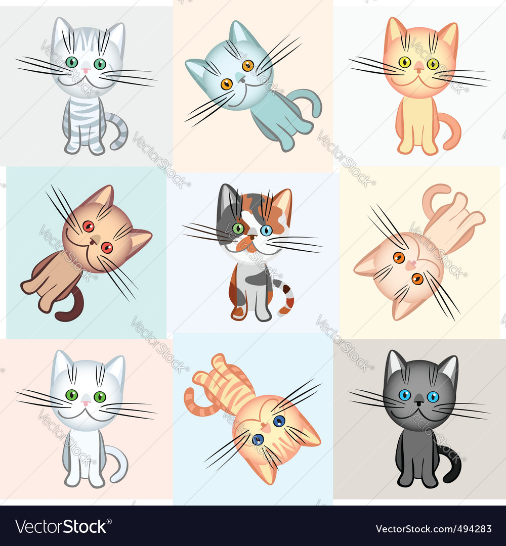 Background on a cat theme vector | Price: 3 Credit (USD $3)
