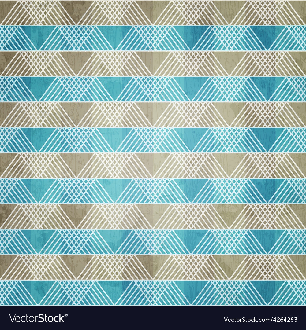 Blue ornament textile with grunge effect vector | Price: 1 Credit (USD $1)