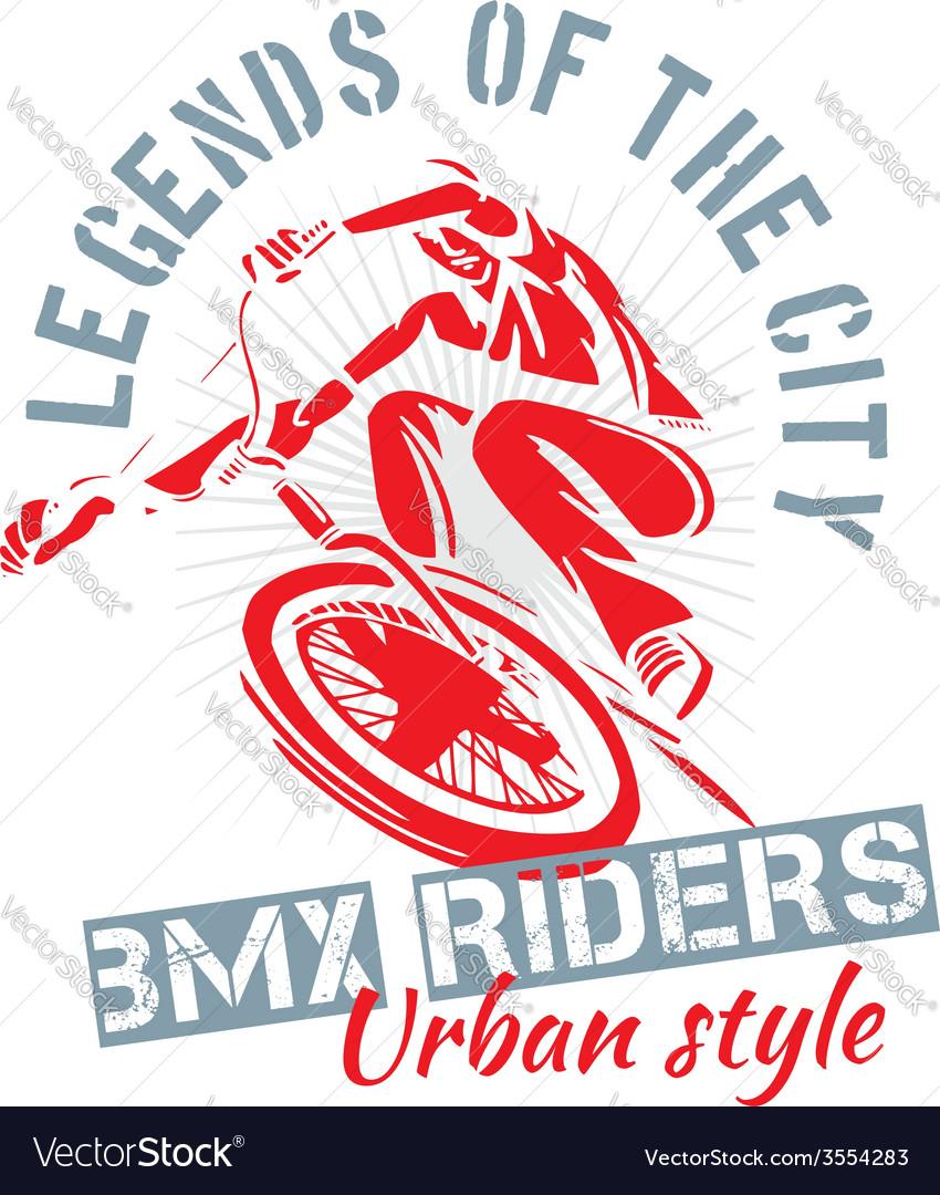 Bmx bike - vector | Price: 1 Credit (USD $1)