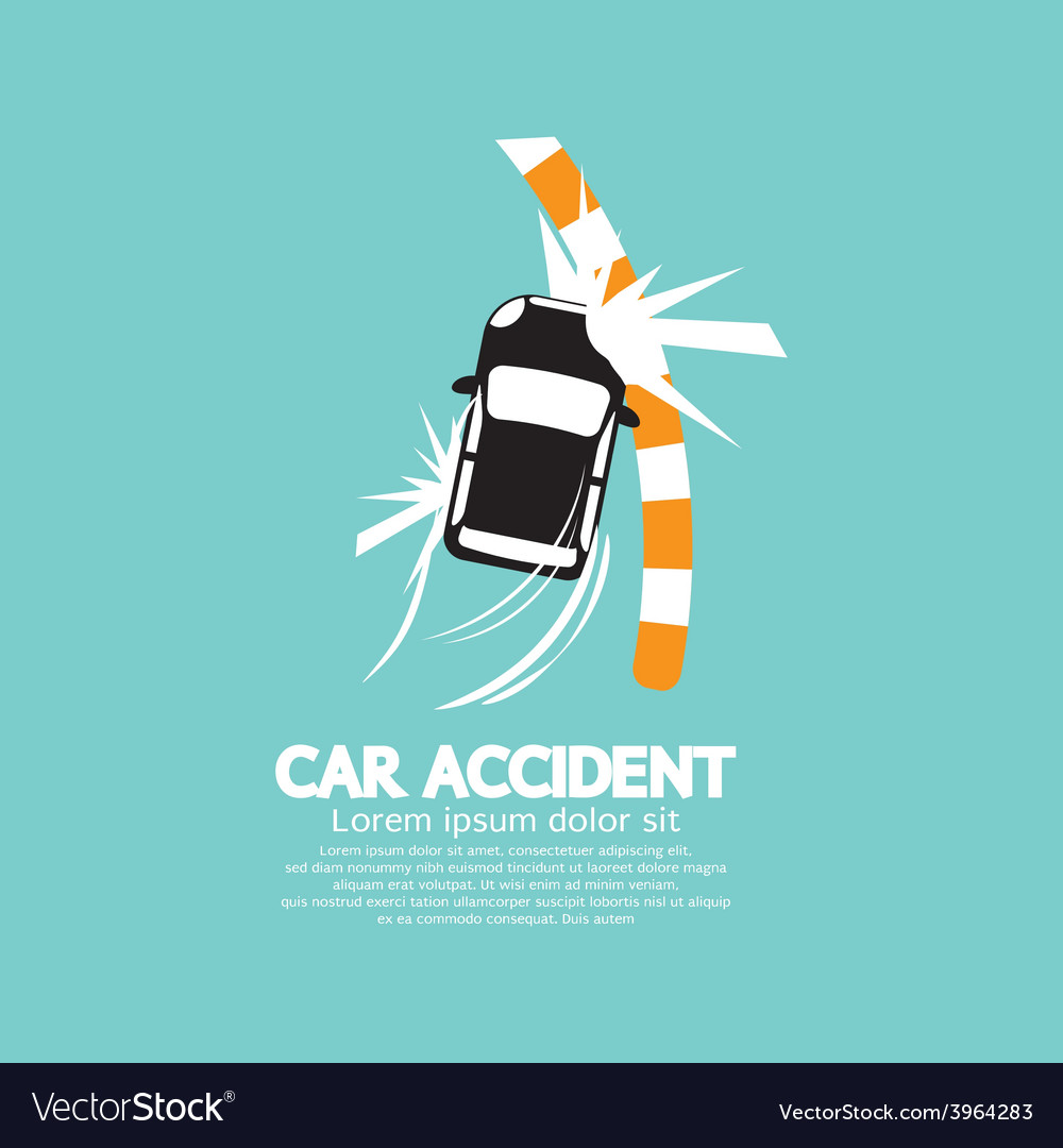 Car accident with footpath vector | Price: 1 Credit (USD $1)