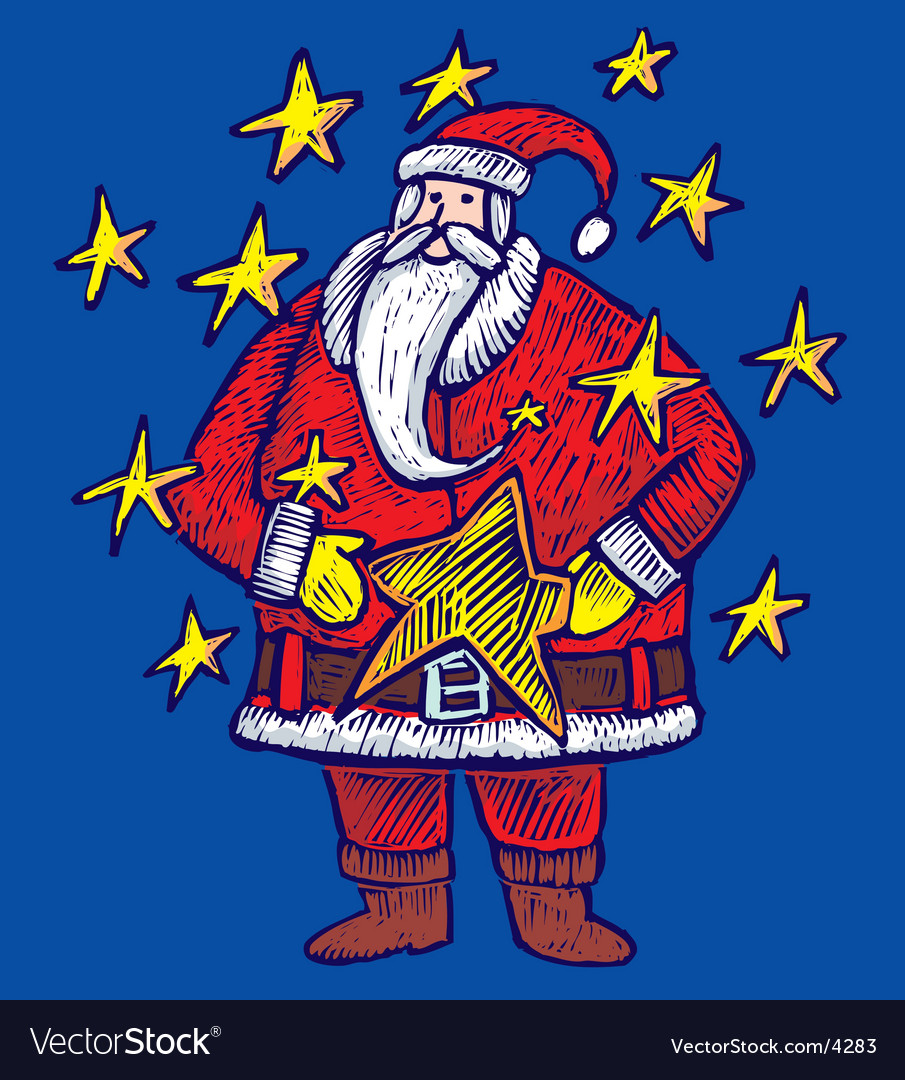 Christmas santa background vector | Price: 1 Credit (USD $1)