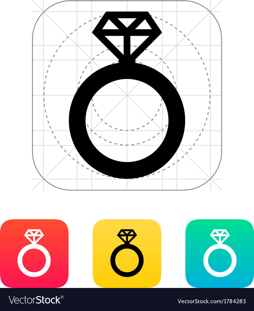 Diamond ring icon vector | Price: 1 Credit (USD $1)