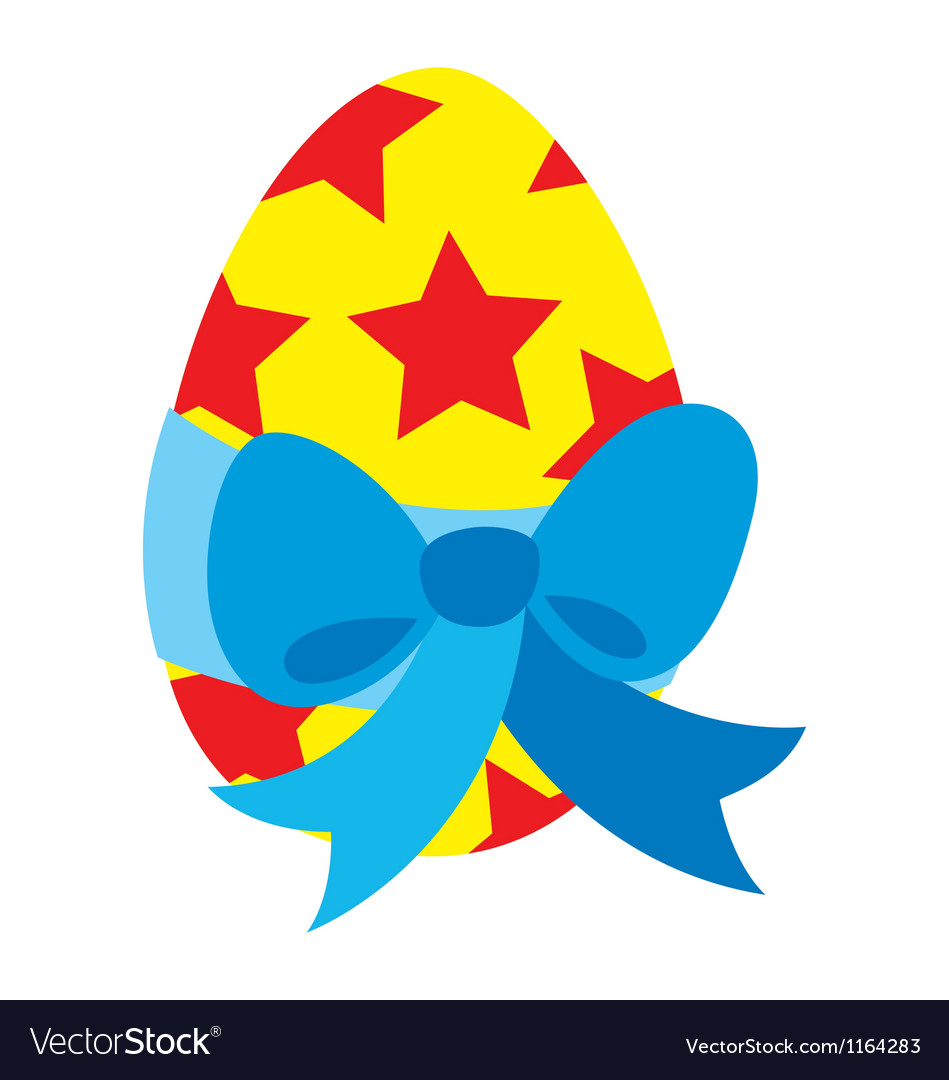 Easter egg ribbon vector | Price: 1 Credit (USD $1)