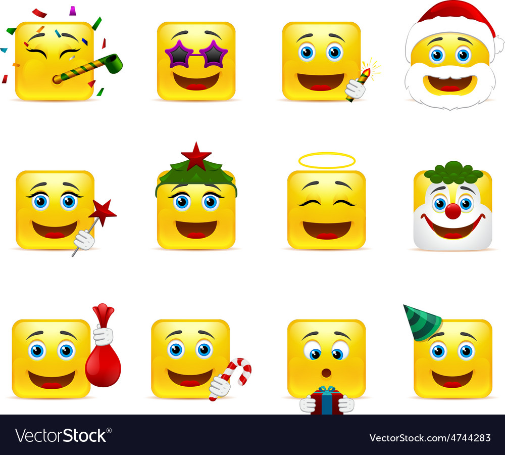 Funny holiday stickers vector | Price: 1 Credit (USD $1)