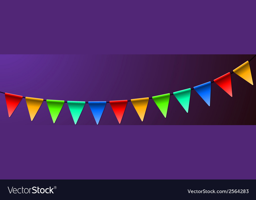 Holiday birthday colorful flags background vector | Price: 1 Credit (USD $1)